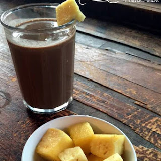 Morning Chocolate Pineapple Protein Shake