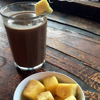 Morning Chocolate Pineapple Protein Shake.