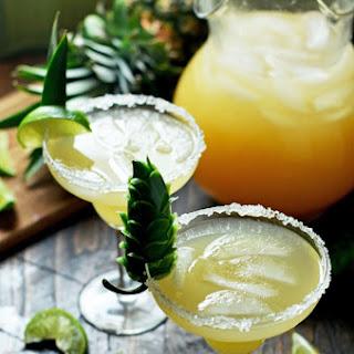 Caramelized Pineapple and Jalapeño Margaritas