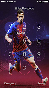 Lock screen For Coutinho Fcb Theme 2018 - náhled
