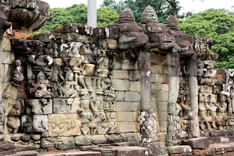 Photo: Year 2 Day 44 -  More Detailed Elephants on the Terrace