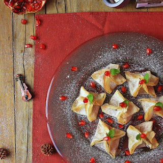 Almond and Pear Wraps with Port wine.