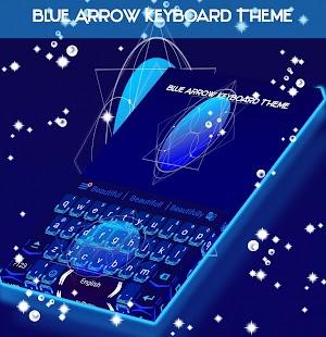 Blue Arrow Keyboard Theme - náhled