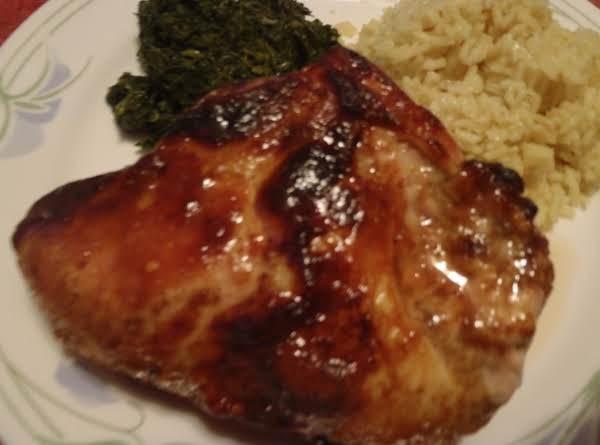 Chicken With Honey Mustard Curry Glaze