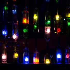 Botellas en Quepos by Annette Flottwell - Artistic Objects Glass ( glass, bottle, colours,  )