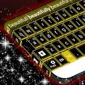 Yellow Neon Keyboard GO icon