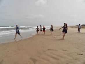 Photo: Running on the beach at Saint-Louis