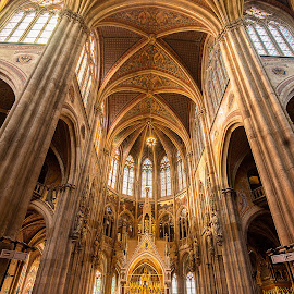 Votivkirche, Vienna. by Simon Page - Buildings & Architecture Places of Worship