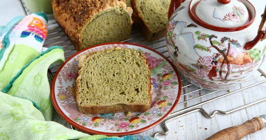 Overnight Green Tea Spelt Loaf with Streusel