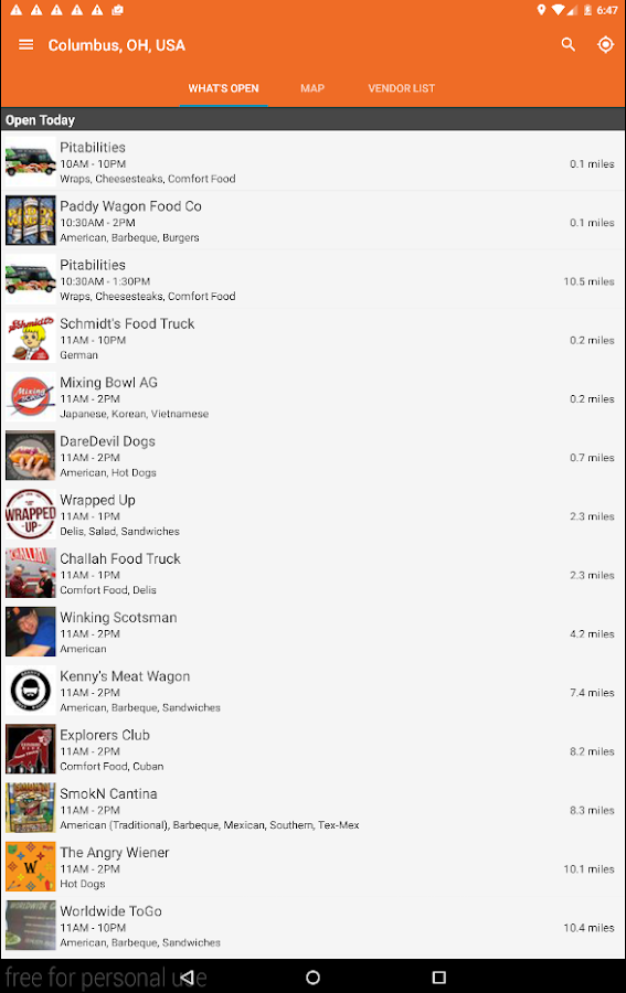 Street Food Finder- screenshot