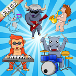 Music Puzzle for Toddlers Kids Icon