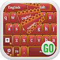 GO Keyboard Red Shiny Stars icon