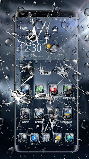 3D Rain Broken Glass Theme 1.3.19 1