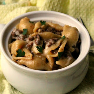 Instant Pot Cheesesteak Pasta {with ground beef}.