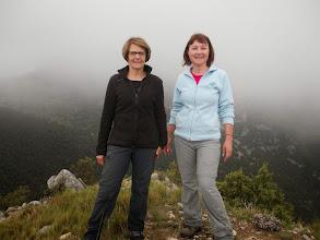 Photo: depuis le Puig de Castell d'Arget,vue incertaine sur le puig de la Gavarra dans les nuages
