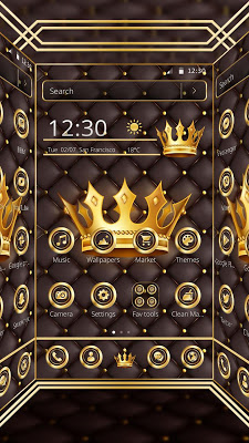 Luxury Gold King Theme - screenshot