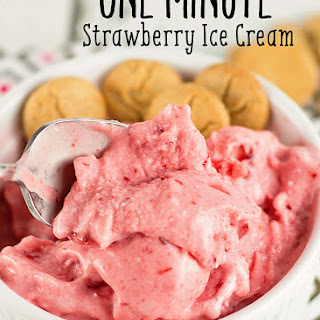 One Minute Strawberry Ice Cream.