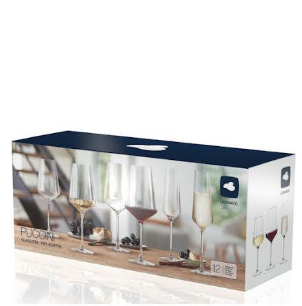 PUCCINI Vinglas Set 12-pack Vinglas / Champagneglas