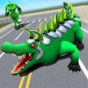 Real Robot Crocodile - Transforming Robot Game