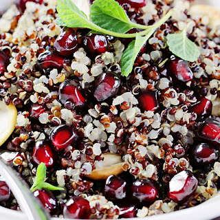 Lemon Pomegranate Quinoa Salad