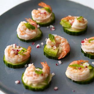 Shrimp and Avocado Appetizers.