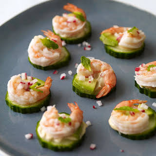 Shrimp and Avocado Appetizers.
