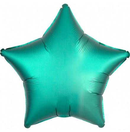 Folieballong Satinstjärna jadegrön, 48 cm