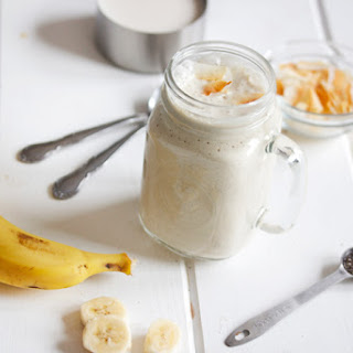 Coconut Banana Cream Protein Smoothie