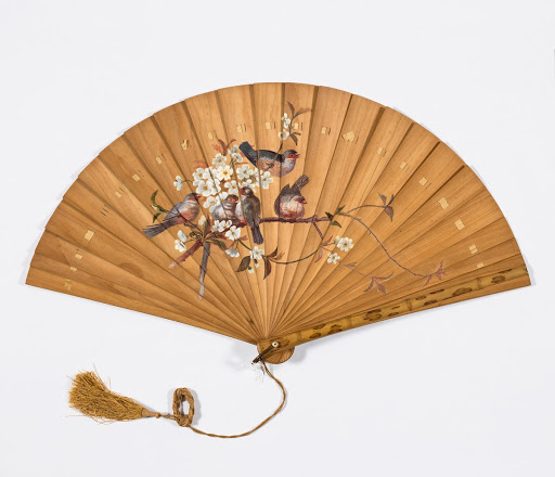 Hand-painted deck type hand fan