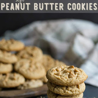 Soft Double Peanut Butter Chip Cookies.