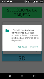 Archivos de WhatsApp a la SD Screenshot