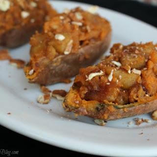 Apple Stuffed Sweet Potatoes.