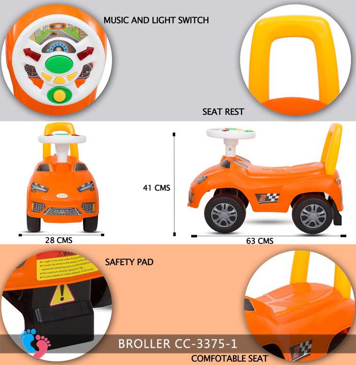 Xe ô tô chòi chân cho bé Broller CC-3375-1 có nhạc 16