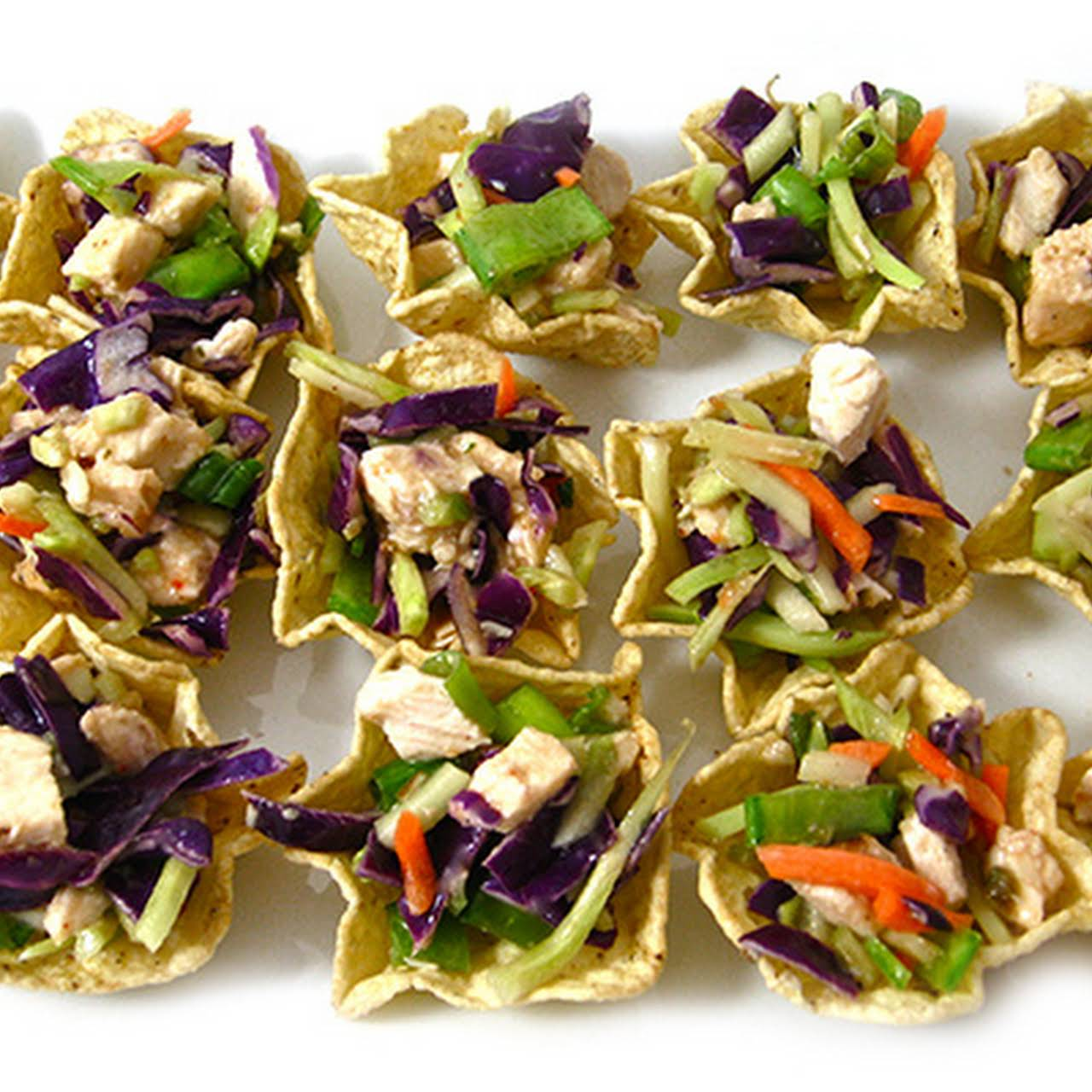 Skinny Chinese Chicken Salad Bites, 16 calories each!