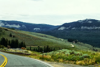 Photo: Big Horn Scenic Byway drove by lots of meadows, we thought about stopping and letting the kids run around.