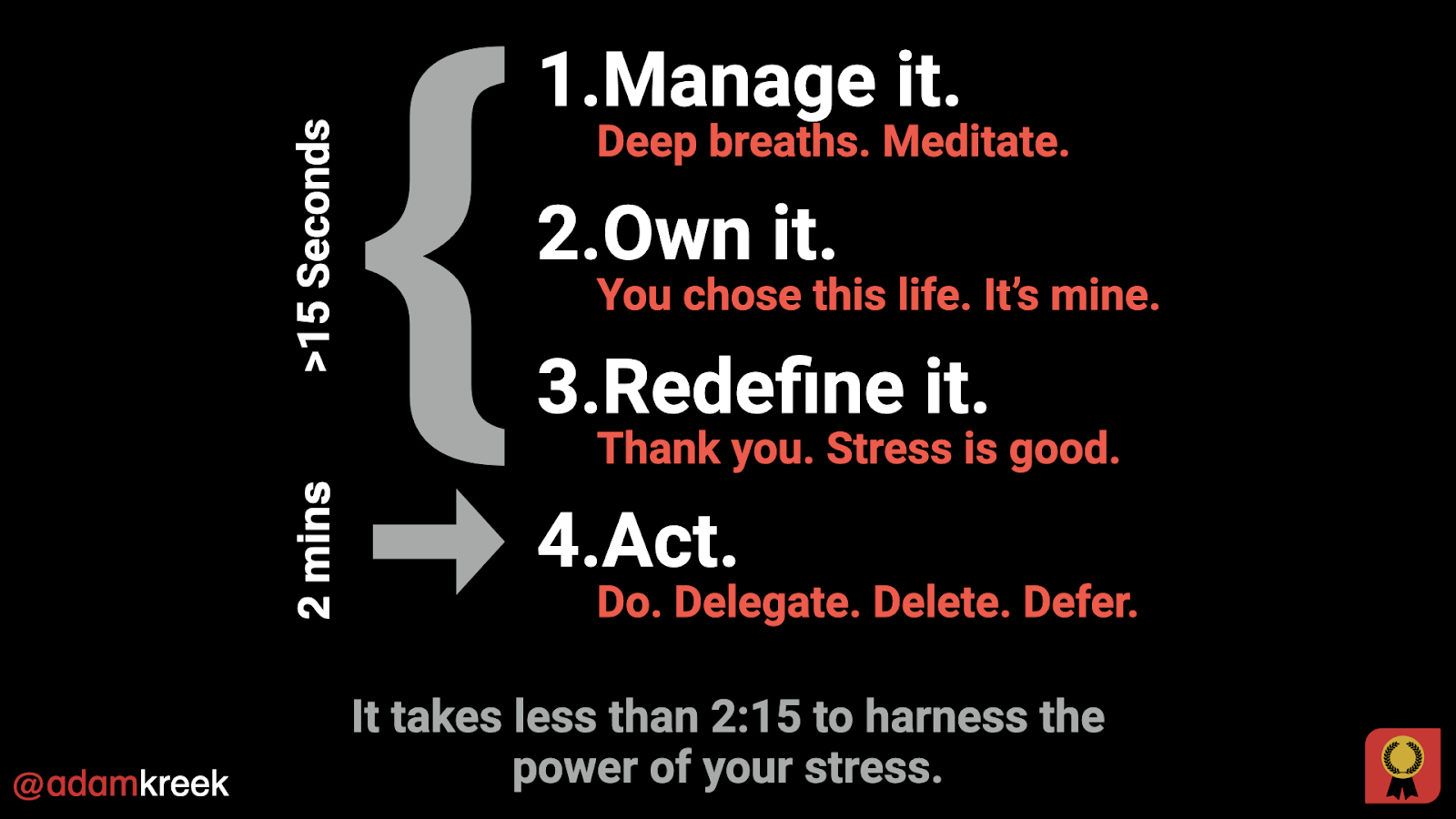 harness the power of your stress