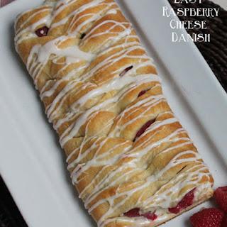 Braided Raspberry Cheese Danish