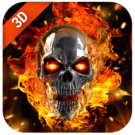 3D Flaming Skull Live Wallpaper for Free