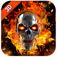 3D Flaming Skull Live Wallpaper for Free icon