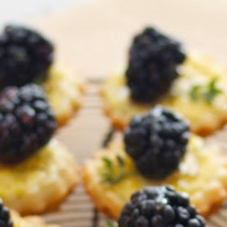 Blackberry Goat Cheese and Honey Tartlets Recipe
