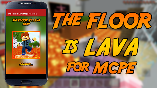 The floor is LAVA Map Challenge for MCPE- screenshot thumbnail