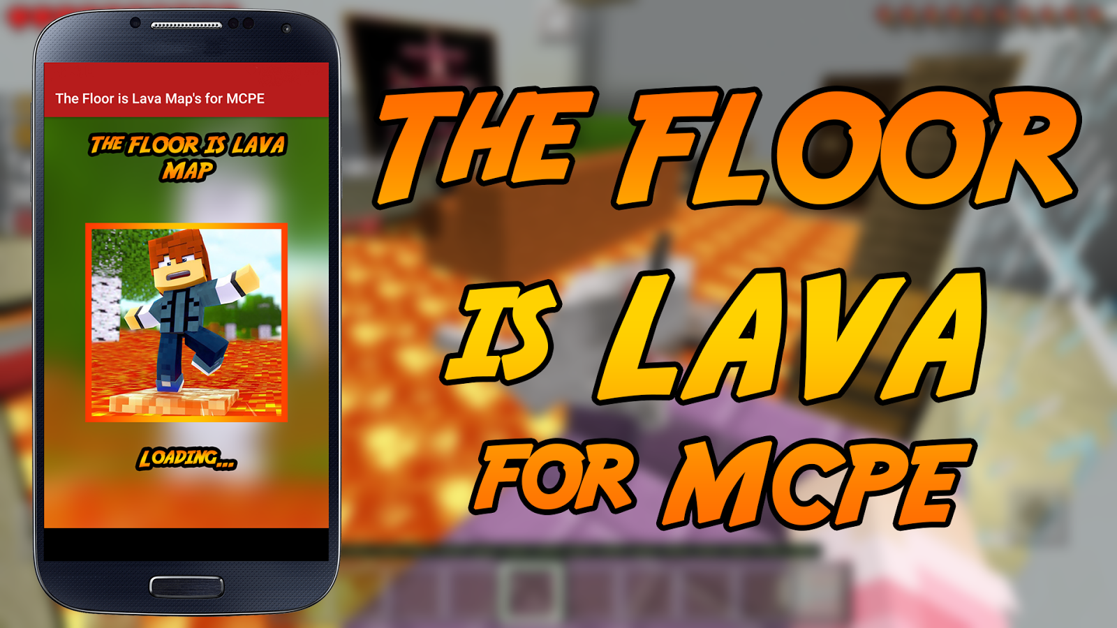 The floor is LAVA Map Challenge for MCPE- screenshot