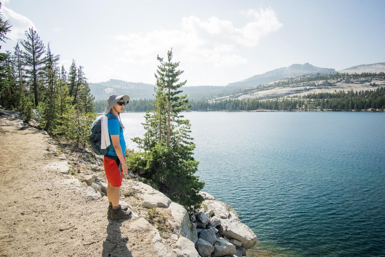 HB on lake trail