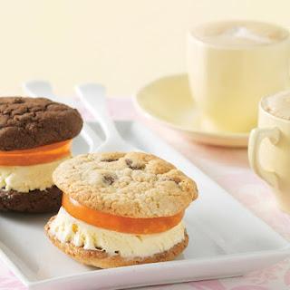 Double Chocolate Orange Ice-Cream Sandwiches.