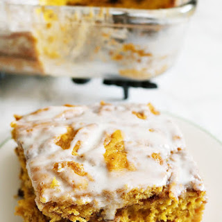 Pumpkin Swirl Layered Coffee Cake & Cream Cheese Icing