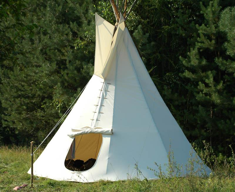 The Native American tipi is a highly practical way to live outside