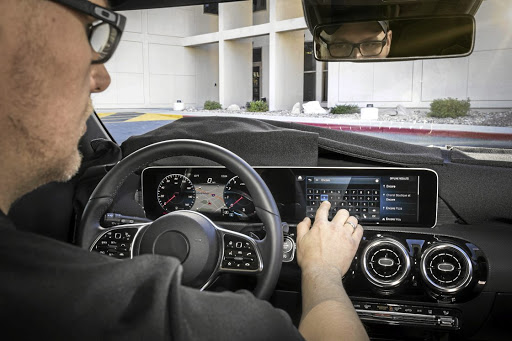 Mercedes' new MBUX display system will debut in the new A-Class. Picture: NEWSPRESS USA