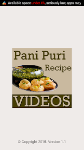 Pani Puri Recipes VIDEOs screenshot