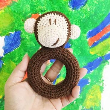 伴兒系列-手搖玩具Ring-Monkey Boy