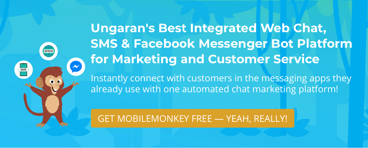 Mobile Monkey merupakan tools Facebook Marketing yang lengkap